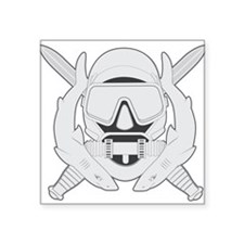 "Spec Ops Diver Square Sticker 3"" x 3"""