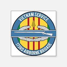 "Vietnam CIB 173rd Square Sticker 3"" x 3"""