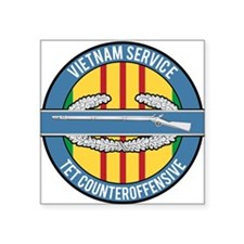 "Vietnam TET 69 CIB Square Sticker 3"" x 3"""