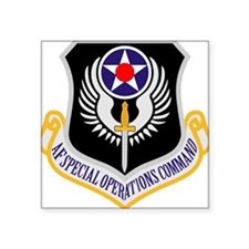 "AF Special Operations Command Square Sticker 3"" x"