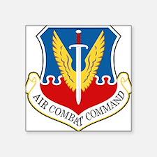 "Air Combat Command Square Sticker 3"" x 3"""