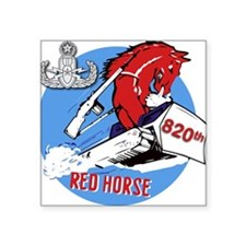 "820th EOD Red Horse Square Sticker 3"" x 3"""