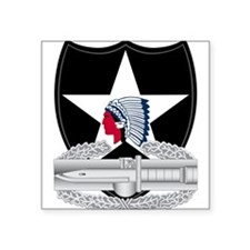 """2nd Infantry CAB Square Sticker 3"""" x 3"""""""
