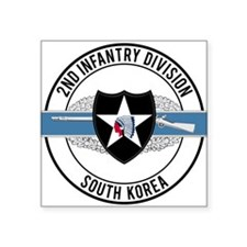 "2nd Infantry CIB Square Sticker 3"" x 3"""