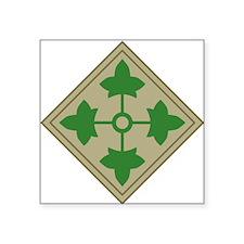 "4th Infantry Square Sticker 3"" x 3"""