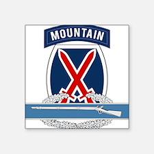 """10th Mountain CIB Square Sticker 3"""" x 3"""""""
