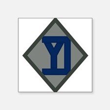 "26th Yankee Division Square Sticker 3"" x 3"""