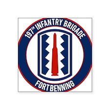 "197th Infantry post Square Sticker 3"" x 3"""