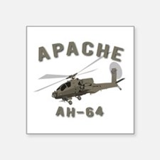 "Apache text Square Sticker 3"" x 3"""