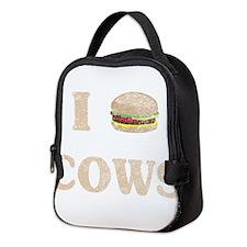 I hamburger cows Neoprene Lunch Bag
