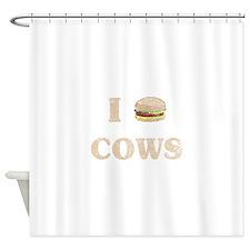 I hamburger cows Shower Curtain