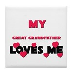 My GREAT GRANDFATHER Loves Me Tile Coaster