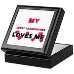 My GREAT GRANDFATHER Loves Me Keepsake Box