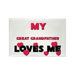 My GREAT GRANDFATHER Loves Me Rectangle Magnet (10