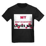 My GREAT GRANDFATHER Loves Me Kids Dark T-Shirt