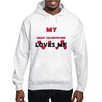 My GREAT GRANDFATHER Loves Me Hooded Sweatshirt