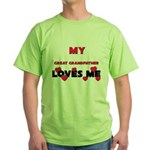 My GREAT GRANDFATHER Loves Me Green T-Shirt