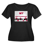 My GREAT GRANDFATHER Loves Me Women's Plus Size Sc