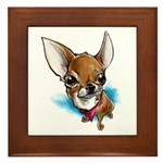 Lil' Chihuahua Framed Tile