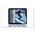 Skier Challenge Rectangle Sticker