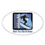 Skier Challenge Oval Sticker