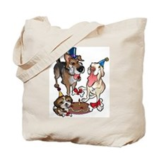 Birthday Dogs Tote Bag