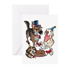 Birthday Dogs Greeting Cards (Pk of 10)