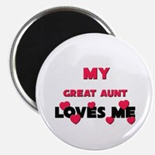 """My GREAT AUNT Loves Me 2.25"""" Magnet (10 pack)"""