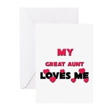 My GREAT AUNT Loves Me Greeting Cards (Package of