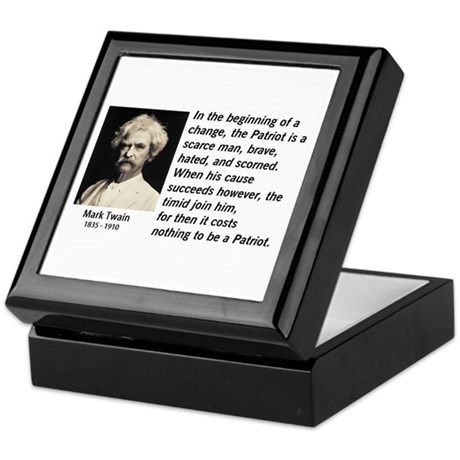 Mark Twain Patriotism Keepsake Box