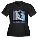 Skier Challenge Women's Plus Size V-Neck Dark T-Sh