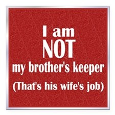 "Disown Responsibility Square Car Magnet 3"" x 3"""