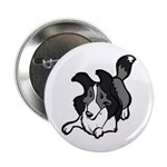 Collie Play Bows Button