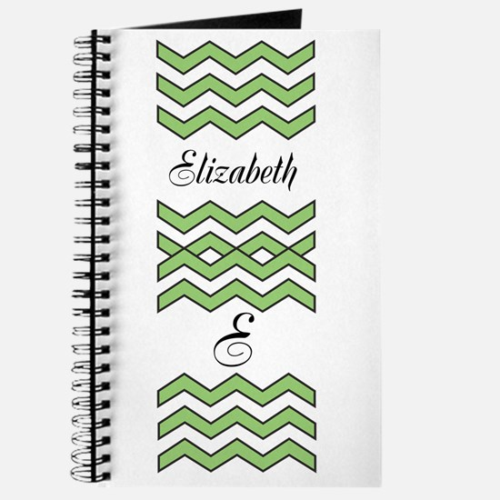 Customize Green Chevron Journal
