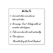 """POST-IT NOTE VOWS Square Sticker 3"""" x 3"""""""