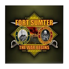Fort Sumter Tile Coaster