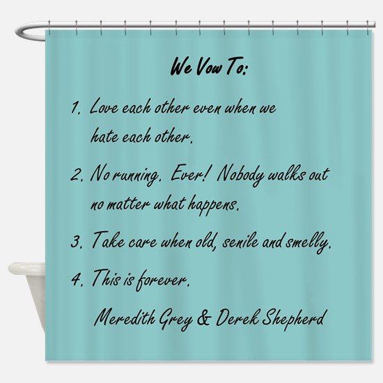 POST-IT NOTE VOWS Shower Curtain