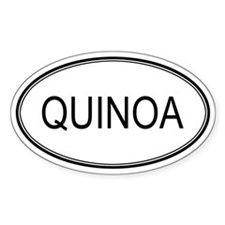 QUINOA (oval) Oval Decal