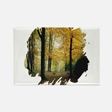 Autumn Woods Rectangle Magnet (100 pack)