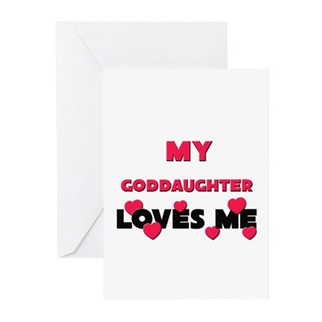 My GODDAUGHTER Loves Me Greeting Cards (Package of