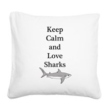 Keep Calm Square Canvas Pillow