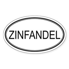 ZINFANDEL (oval) Oval Decal