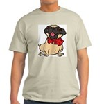 Pug with a bow Light T-Shirt