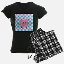Pink Pig on Teal and Pink Pajamas
