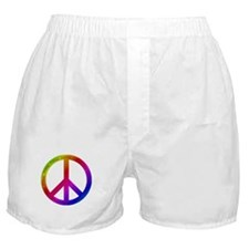 Colorful Peace Sign Boxer Shorts