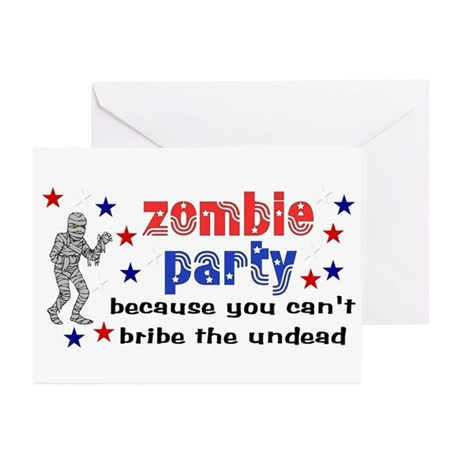 Vote Zombie Party Greeting Cards (Pk of 10)