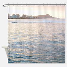 Sunrise Honolulu Hawaii Tropical Shower Curtain