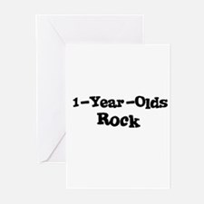 1-Year-Olds Rock Greeting Cards (Pk of 10)
