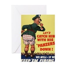 WW 2 Poster Greeting Cards
