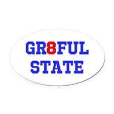 GR8FUL STATE (C) Oval Car Magnet